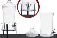 Bocal avec couvercle, robinet en plastique et base 240 x 480 mm - 9 litres de décoration