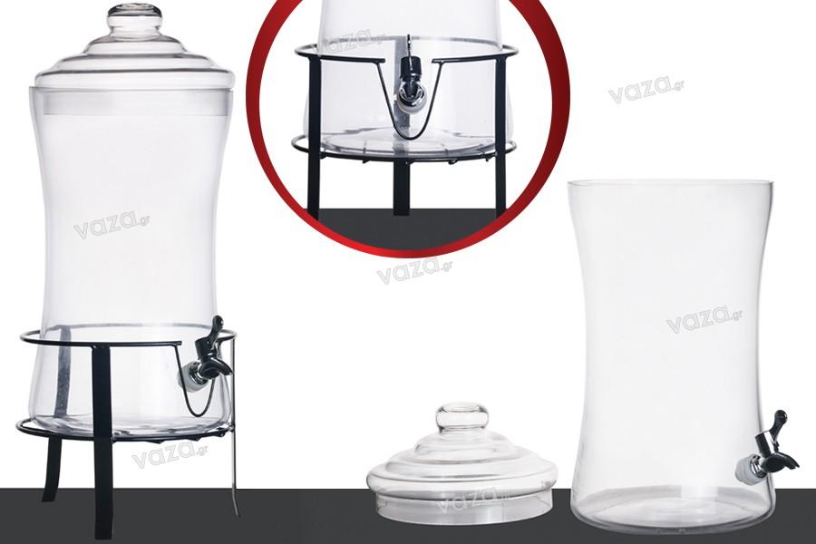 dekogl ser deko glas mit deckel plastischem wasserhahn und st nder 240x480 mm 9 liter. Black Bedroom Furniture Sets. Home Design Ideas