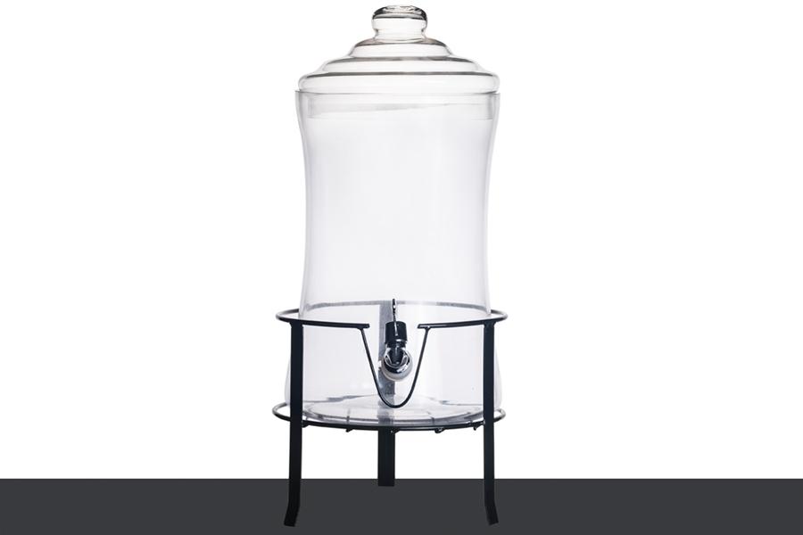 dekogl ser deko glas mit deckel plastischem wasserhahn. Black Bedroom Furniture Sets. Home Design Ideas