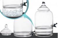 Bonbonne décorative avec robinet, couvercle et base qui sert comme place pour des glaçons – 9 litres