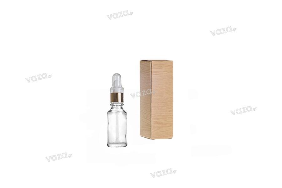 Flacon en verre pour huiles essentielles 10 ml transparent avec orifice PP18