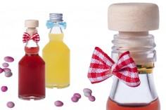 Μπομπονιέρα μπουκαλάκι μικρό 50 ml για γάμο και βάπτιση *