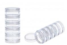 Βαζάκι ακρυλικό για στρας νυχιών 3 ml με 5 ορόφους