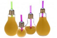 Μπουκάλι γυάλινο σε ιδιαίτερο σχήμα λάμπας 100 ml - χωρίς καπάκι