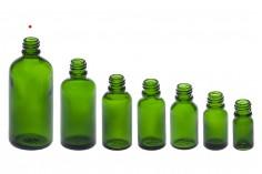 Γυάλινο μπουκαλάκι για αιθέρια έλαια 100 ml πράσινο με στόμιο PP18