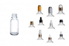 Γυάλινο μπουκαλάκι για αιθέρια έλαια 20 ml διάφανο με στόμιο PP18