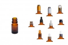 Flacon en verre pour huiles essentielles 5 ml ambré avec orifice PP18