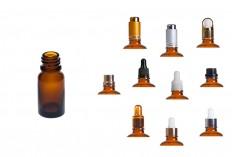 Γυάλινο μπουκαλάκι για αιθέρια έλαια καραμελέ 10 ml με στόμιο PP18