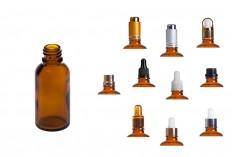 Γυάλινο μπουκαλάκι για αιθέρια έλαια καραμελέ 30 ml με στόμιο PP18