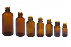 Γυάλινο μπουκαλάκι για αιθέρια έλαια καραμελέ 50 ml με στόμιο PP18
