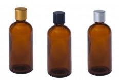 Γυάλινο μπουκαλάκι για αιθέρια έλαια καραμελέ 100 ml με στόμιο PP18