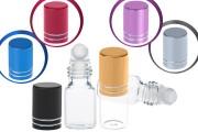 Γυάλινο φιαλίδιο rollon 3 ml σε διάφορα χρώματα