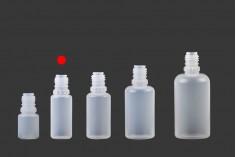 Μπουκαλάκι πλαστικό 10 ml με καπάκι CRC και dropper για ηλεκτρονικό τσιγάρο - 50 τμχ