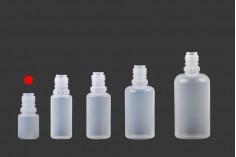 Μπουκαλάκι πλαστικό 5 ml με καπάκι CRC και dropper για ηλεκτρονικό τσιγάρο - 50 τμχ