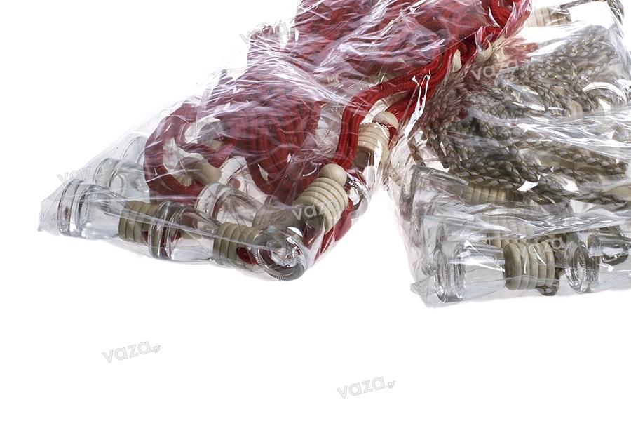Μπουκαλάκι για αρωματικό αυτοκινήτων 4ml κωνικό με ξύλινο καπάκι και τάπα - σε 25άδες