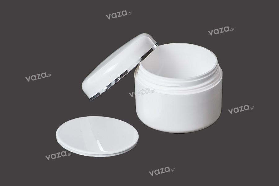 Pot de crèmes en acrylique de 50 ml à double paroi avec joint- packs de 12 pièces