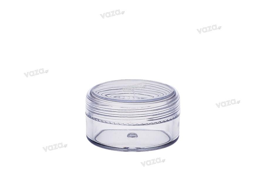 Βάζο ακρυλικό 10 ml με καπάκι - 12 τμχ