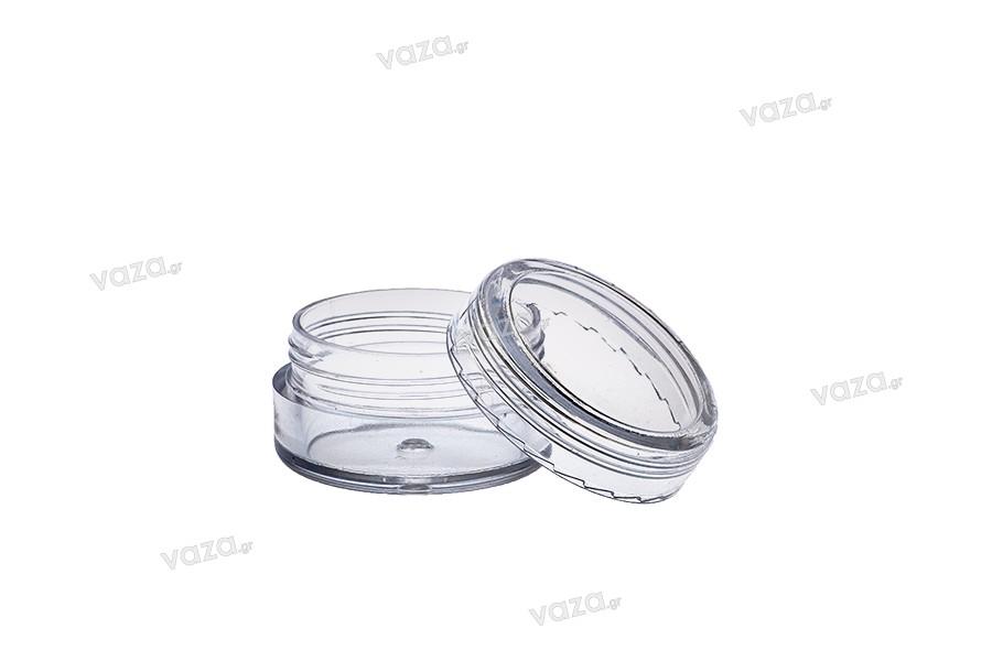 Βαζάκι ακρυλικό 5 ml διάφανο με καπάκι