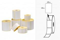Θερμικές ετικέτες, χάρτινες, αυτοκόλλητες 105x150 mm σε ρολό - 1000 τμχ