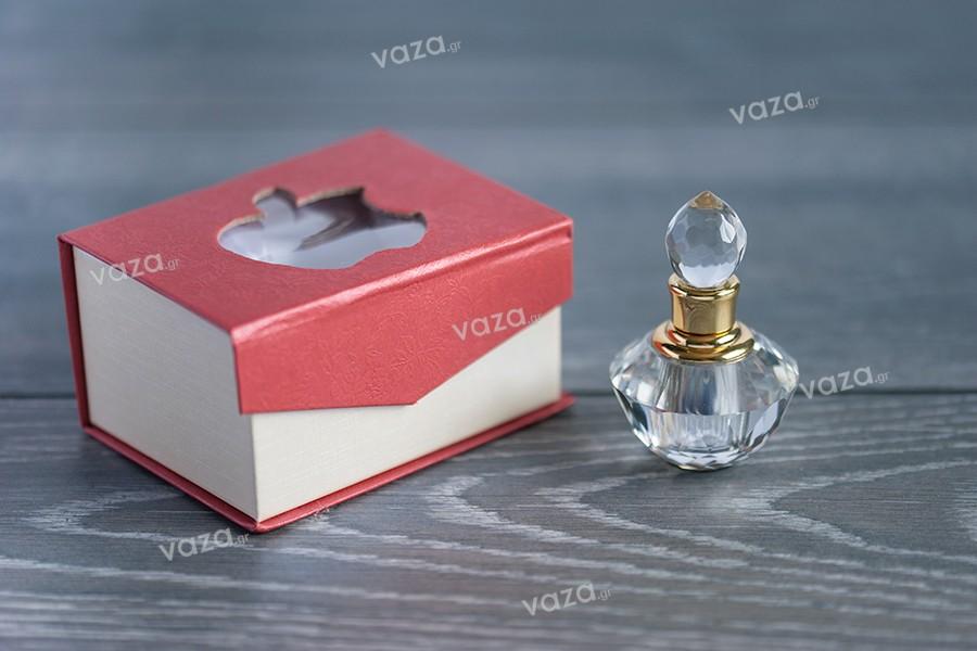 Μπουκαλάκι κρυστάλλινο 3 ml με κρυστάλλινο καπάκι και βελόνα