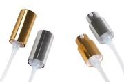 Αντλία αλουμινίου PP18 με εξωτερικό ελατήριο κατάλληλη για κρέμα (έγχυση) σε διάφορα χρώματα