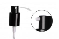 Pompe en aluminium PP18 avec couvercle adapté à la crème (infusion)