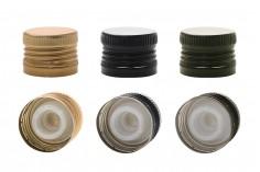 Προβιδωμένο καπάκι αλουμινίου με ελεγχόμενη ροή 31,5x24 και δυνατότητα σφράγισης