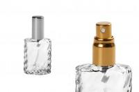 Flacon de parfum de 15 ml avec vaporisateur et couvercle