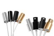 Pompe à crème en aluminium PP18  (injection) en différentes couleurs