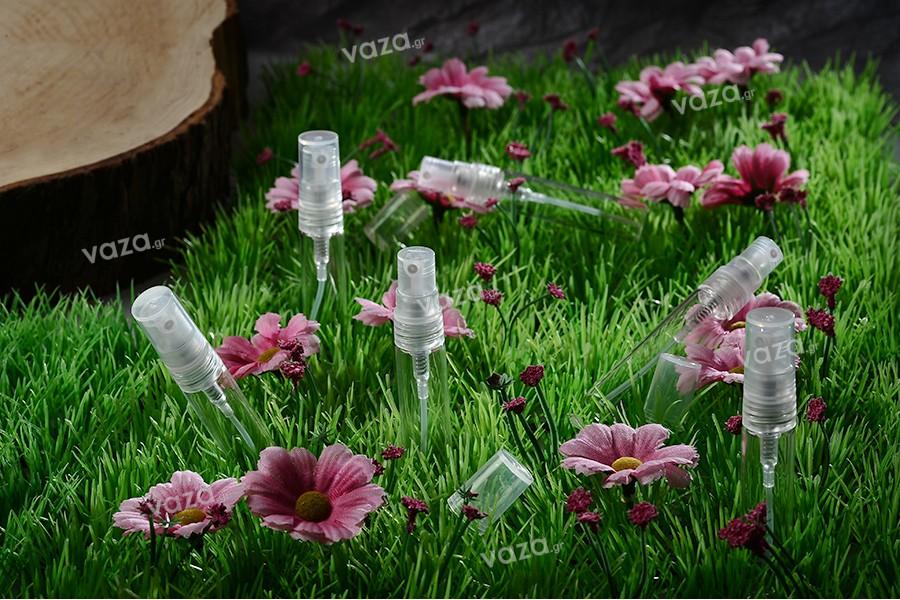 Σπρέι για αρώματα 5 ml γυάλινο με πλαστικό καπάκι - 6 τμχ