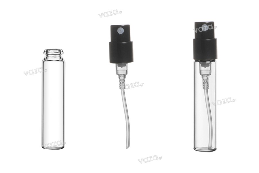 Φιαλίδιο 2,5 ml γυάλινο για tester αρωμάτων