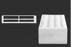 Στατώ σωληναρίων πλαστικό 278x110x60 mm σε λευκό χρώμα - 40 θέσεις (άνοιγμα τρύπας Φ 22 mm)