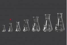 Γυάλινη κωνική φιάλη (Erlenmeyer) 10 ml με ενδείξεις ογκομέτρησης