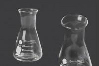 Γυάλινη κωνική φιάλη (Erlenmeyer) 100 ml με ενδείξεις ογκομέτρησης
