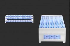 Στατώ σωληναρίων πλαστικό 256x113x64 mm - 50 θέσεις (άνοιγμα τρύπας Φ 16 mm)