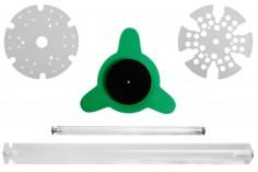 Στατώ για πιπέτες κυκλικό, περιστρεφόμενο - 24 θέσεις (άνοιγμα τρύπας 14 mm)