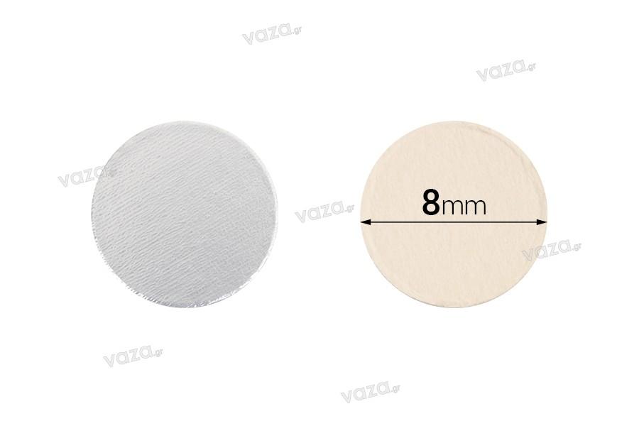 Παρεμβύσματα επαγωγικής σφράγισης (induction sealing) - 8 mm (πακέτο 100 τμχ)