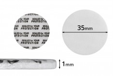Παρεμβύσματα 35 mm για βαζάκια (κολλάει με την πίεση) - 50 τμχ