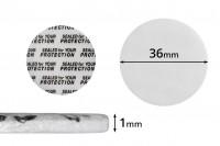 Παρεμβύσματα 36 mm για βαζάκια (κολλάει με την πίεση) - 50 τμχ