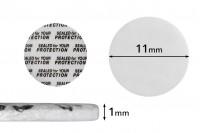 Παρεμβύσματα 11 mm για βαζάκια (κολλάει με την πίεση) - 50 τμχ