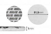 Παρεμβύσματα 51,5 mm για βαζάκια (κολλάει με την πίεση) - 50 τμχ