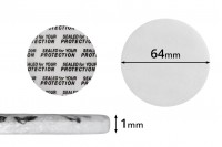 Παρεμβύσματα 64 mm για βαζάκια (κολλάει με την πίεση) - 50 τμχ