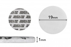 Παρεμβύσματα 19 mm για βαζάκια (κολλάει με την πίεση) - 50 τμχ