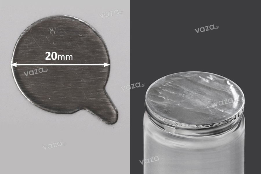 Αυτοκόλλητο παρέμβυσμα αλουμινίου 20 mm - 105 τμχ