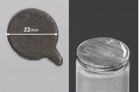 Joint autocollant argenté en aluminium 22mm- paquet de 78 pièces