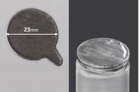 Joint autocollant  argenté en aluminium 23mm- paquet de 78 pièces