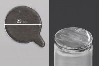 Joint autocollant argenté en aluminium 25mm- paquet de 60pièces
