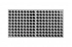 Αυτοκόλλητο παρέμβυσμα αλουμινίου 9 mm ασημί - 162 τμχ