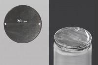 Joint autocollant argenté en aluminium 28mm- paquet de 35 pièces