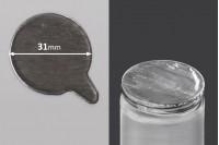 Joint autocollant argenté en aluminium 31mm- paquet de 32 pièces